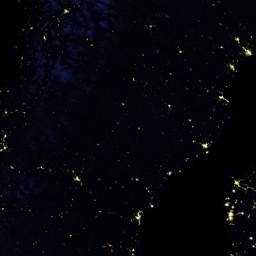 Blue Marble Navigator Night Lights - Earth at night map